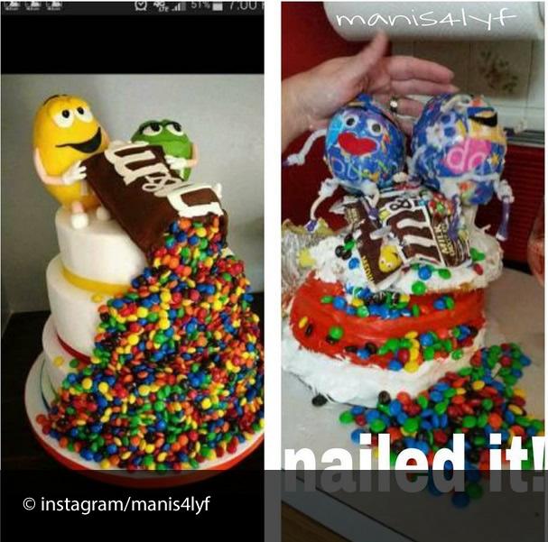 cake fail M&Ms