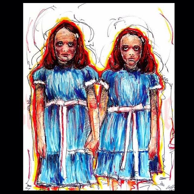 Halloween twins from the shining